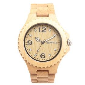 木製腕時計 天然素材 安心の天然素材 軽い 軽量 WDW002-04 | メンズ腕時計 保証付き