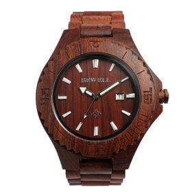 木製腕時計 日本製ムーブメント 日付機能 47mmビッグケース WDW003-02 | メンズ腕時計 保証付き