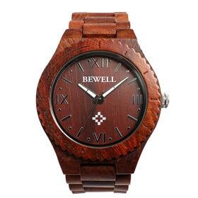 木製腕時計 日本製ムーブメント 軽量 45mmビッグケース WDW011-01 | メンズ腕時計 保証付き