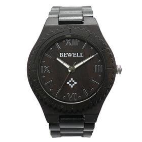 木製腕時計 日本製ムーブメント 軽量 45mmビッグケース WDW011-02 | メンズ腕時計 保証付き