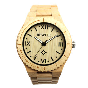 木製腕時計 日本製ムーブメント 軽量 45mmビッグケース WDW011-03 | メンズ腕時計 保証付き
