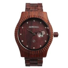 木製腕時計 日本製ムーブメント 日付カレンダー 37mmケース WDW016-02 | レディース腕時計 保証付き