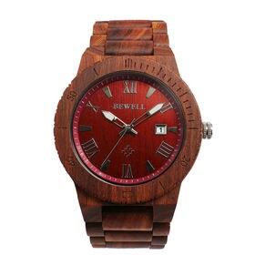 木製腕時計 日本製ムーブメント 日付カレンダー 軽い 軽量 WDW017-03 | メンズ腕時計 保証付き