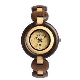 木製腕時計 天然素材 軽量 ブレスレットタイプ WDW021-01 | レディース腕時計 保証付き