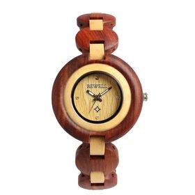 木製腕時計 天然素材 軽量 ブレスレットタイプ WDW021-02 | レディース腕時計 保証付き
