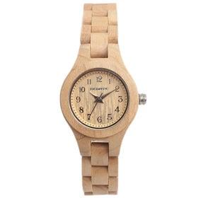 木製腕時計 日本製ムーブメント 軽い 軽量 26mmケース WDW022-01 | レディース腕時計 保証付き