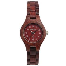 木製腕時計 日本製ムーブメント 軽い 軽量 26mmケース WDW022-02 | レディース腕時計 保証付き