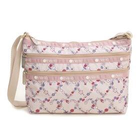[LeSportsac]ショルダーバッグ QUINN BAG ライトピンク系 | 豊富なポケットで小物もすっきり収納!日常使いにオススメ♪