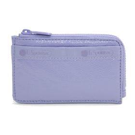[LeSportsac]カードケース L ZIP CARD CASE パープル | ファスナー付きポケットで、コインケースやフラグメントケースとしても◎