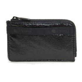 [LeSportsac]カードケース L ZIP CARD CASE ブラック | ファスナー付きポケットで、コインケースやフラグメントケースとしても◎