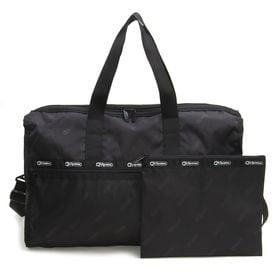 [LeSportsac]ボストンバッグ RE-DELUXE LG WEEKENDER ブラック系 | リサイクルコレクションならではのロゴに注目!たっぷりした収納力が魅力です