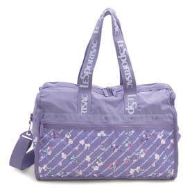[LeSportsac]ボストンバッグ DELUXE MEDIUM WEEKENDER ラベンダー | 旅行には欠かせないボストンバッグ!キャリーバーに通せるポケット付きでサブバッグとしても◎