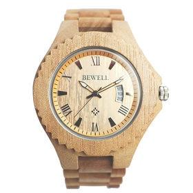 木製腕時計 天然素材 木製腕時計 日付カレンダー 軽い 軽量 WDW026-01 | メンズ腕時計 保証付き
