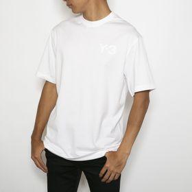 Lサイズ[adidasY-3]Tシャツ M CLAIC CHEST LOGO  TEE(ホワイト) | 胸元のさり気ないY-3ロゴが◎着回しの効く応用力の高さがお気に入り!