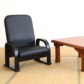 リクライニングTV座椅子 BKレザー