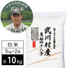 【10kg】 令和2年産 武川米 農林48号 ヨンパチ 小澤...