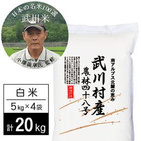 【20kg】 令和2年産 武川米 農林48号 ヨンパチ 小澤...