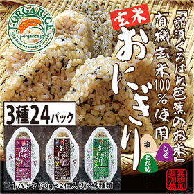 時短玄米【3種24パック(48個入)】自然栽培_有機玄米おに...