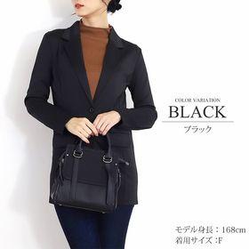 【ブラック・F】ロングテーラードジャケット