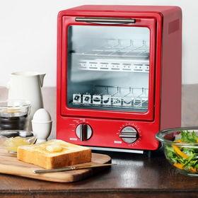 【レッド】D-STYLIST  縦型オーブントースター