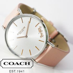COACH コーチ 腕時計 レディース ピンクベージュ