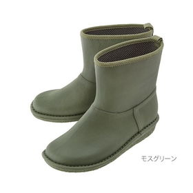 【モスグリーン L/23.5cm-24.0cm】日本製 レインブーツ ショート丈 | ショート レインブーツ Charming チャーミング 通販 レディース かわいい