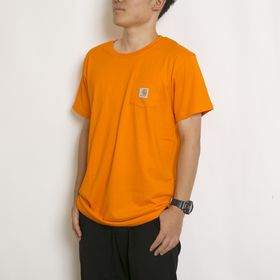 【キッズXLサイズ/オレンジ】 [CARHARTT] BOYS GRAPHIC POCKET TEE   大人も着れるキッズTシャツ!ブランドロゴがアクセントを添えます♪