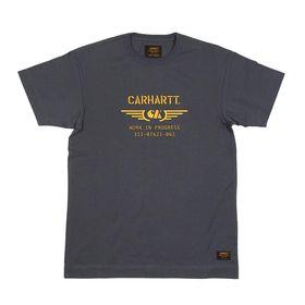 【XSサイズ/ブラック】[CARHARTT] Tシャツ S/S CA WINGS T-SHIRTS | コットン素材で着心地はバツグン!アーミーなデザインの刺繍がお気に入り♪