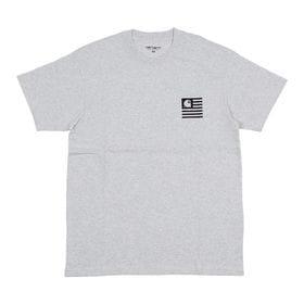 【Sサイズ/グレー】[CARHARTT] Tシャツ S/S STATE PATCH T-SHIRT | コットン素材で着心地はバツグン!バッグスタイルもサマになる一枚♪