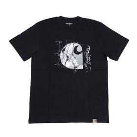 【XSサイズ/ネイビー】[CARHARTT] Tシャツ BROKEN GLASS T-SHIRT | コットン素材で着心地はバツグン!大胆なグラフィックがアクセントに♪