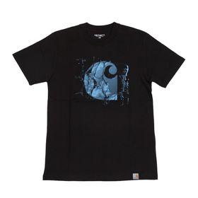 【XSサイズ/ブラック】[CARHARTT] Tシャツ BROKEN GLASS T-SHIRT | コットン素材で着心地はバツグン!大胆なグラフィックがアクセントに♪