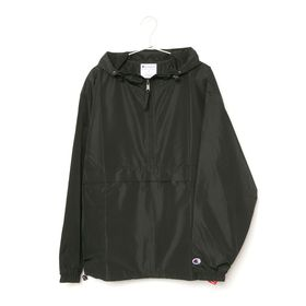 [Champion]マウンテンパーカー PACKABLE ANORAK ブラック【Lサイズ】 | 肌寒い時に気軽に羽織れるマウンテンパーカー!パッカブル仕様で持ち運びにも◎