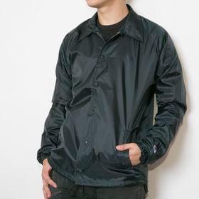 【Mサイズ/ブラック】[Champion]ウインドブレーカー NYLON COACH JACKET | 肌寒いときサッと羽織れる気軽さが魅力です♪ロングシーズン使えるアイテム!