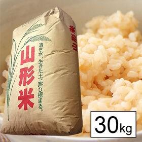 【30kg】令和2年産 新米 山形県産 はえぬき (玄米)