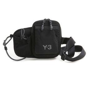 [adidas Y-3]ボディバッグ CH3 CORD BUMBAG ブラック | 外ポケットにスマートフォンや定期券などサッと取り出したいものを入れて♪