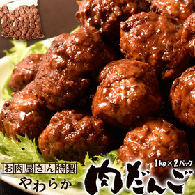 【計2kg(1kg×2パック)】お肉屋さんの特製 柔らか肉だ...