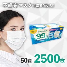 【在庫有り】不織布マスク 2500枚<50枚×50箱セット>