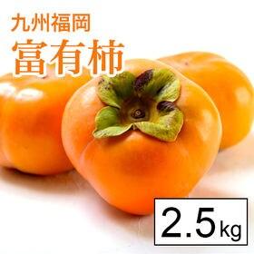 【2.5kg箱】甘柿の王様!名産地福岡より富有柿(8-10玉...