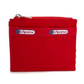 [LeSportsac]折り財布 SMALL WALLET レッド | 厚みのないフラットなデザインがお気に入り!お子様用のお財布としても◎
