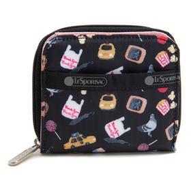 [LeSportsac]財布 CLAIR WALLET ブラック系 | 丈夫で使い勝手の良い折り財布!豊富なカードポケットで収納力抜群♪