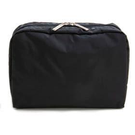 [LeSportsac]ポーチ XL RECTANGULAR COSMETIC ブラック | 大容量の収納を叶える大きめサイズ!旅行の小物の小分けにも◎