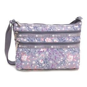 [LeSportsac]ショルダーバッグ QUINN BAG グレー系 | 豊富なポケットで小物もすっきり収納!日常使いにオススメ♪