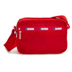[LeSportsac]ショルダーバッグ CLASSIC CUBE CROSSBODY レッド | 女性が使い易いサイズ感で、デイリーから旅行まで幅広く活躍が期待できそう!