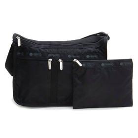 [LeSportsac]ショルダーバッグ DELUXE EVERYDAY BAG ブラック | 旅行やお出かけなどのアクティブなシーンにもピッタリ!外出先で急に荷物が増えても安心♪