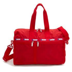 [LeSportsac]ボストンバッグ CLASSIC MED WEEKENDER レッド | 旅行には欠かせないボストンバッグ!キャリーバーに通せるポケット付きでサブバッグとしても◎