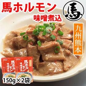 【300g(150g×2パック)】 馬ホルモン味噌煮込み 九...