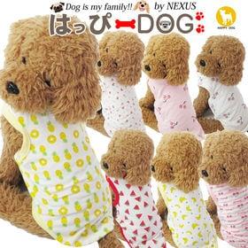 【チェリー:白/L】犬 服 犬服 犬の服 タンクトップ