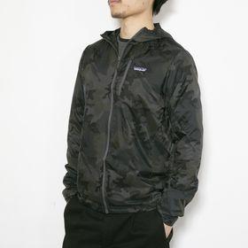 XSサイズ[patagonia]ジャケット M'S HOUDINI JKT カモフラージュ | 小さく折りたためるパッカブル仕様で、旅行などの持ち歩きにも!