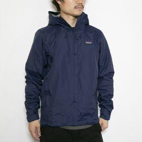 Lサイズ[patagonia]ジャケット M'S TORRENTSHELL 3L JKT ネイビー | 機能性も兼ね備えたナイロンジャケット!小さく収納できるパッカブル仕様も◎