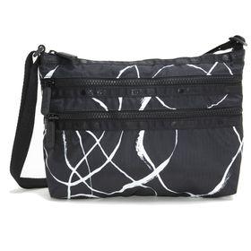 [LeSportsac]ショルダーバッグ QUINN BAG ブラック系 | 豊富なポケットで小物もすっきり収納!日常使いにオススメ♪